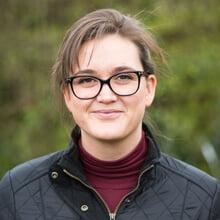 Portrait of Zoe Davenport buildings insurance surveyor